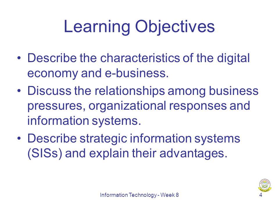 Information Technology - Week 815 New Economy vs.