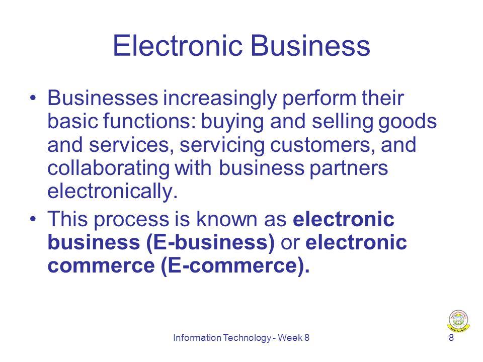 Information Technology - Week 89 New Economy vs.