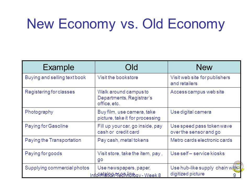 Information Technology - Week 810 New Economy vs.