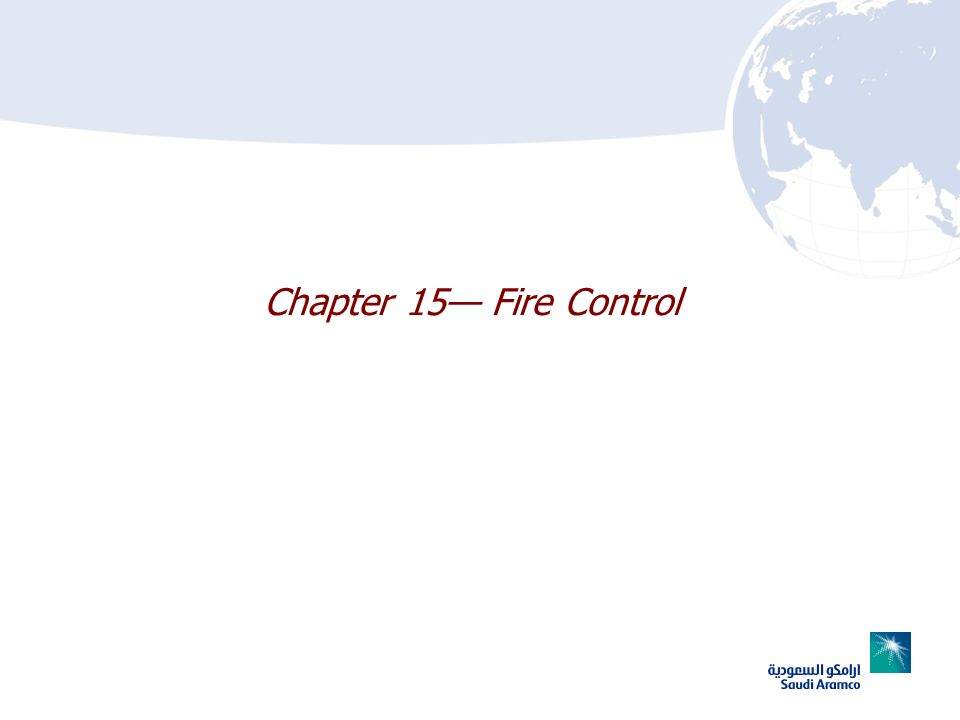 Chapter 15 Fire Control