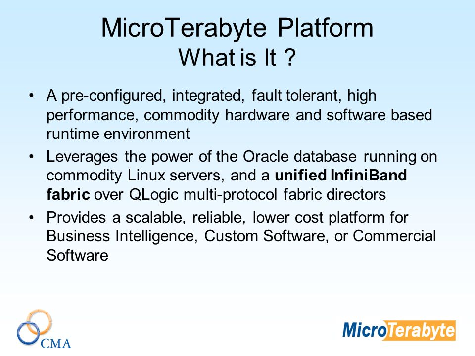 MicroTerabyte Platform What is It .