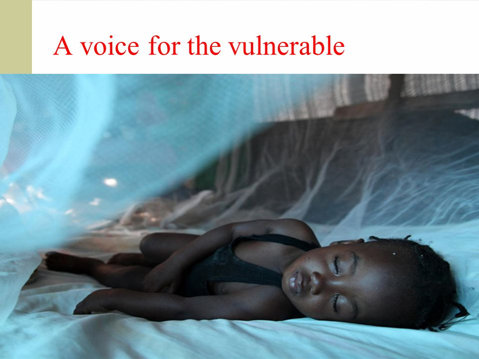 A voice for the vulnerable