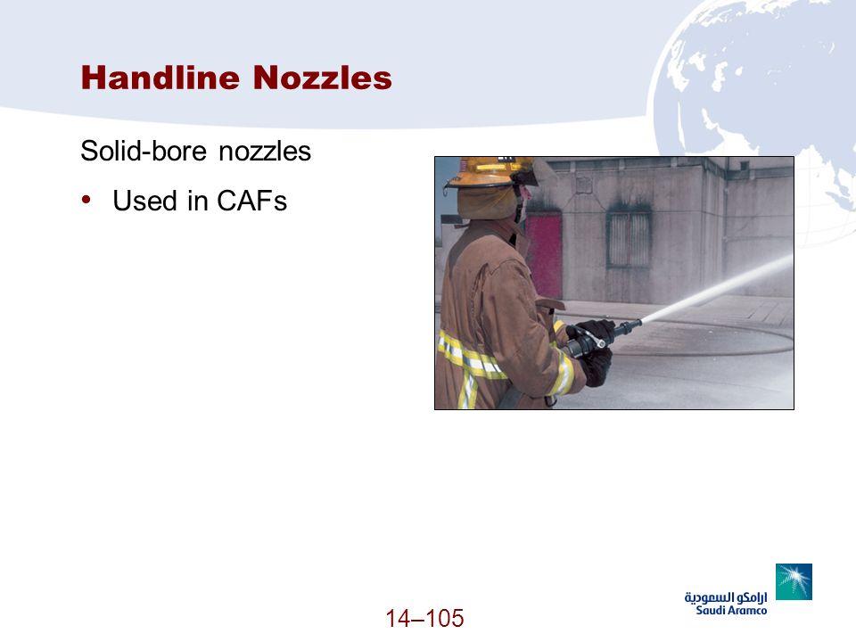 Handline Nozzles Solid-bore nozzles Used in CAFs 14–105