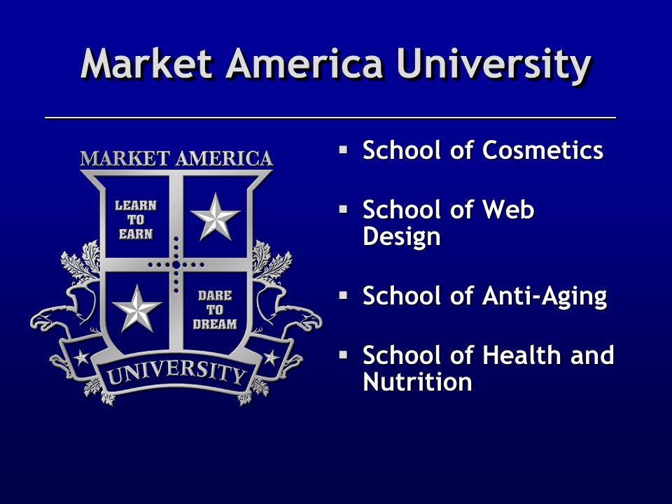 Market America University Partners with the NMTSS Presents...