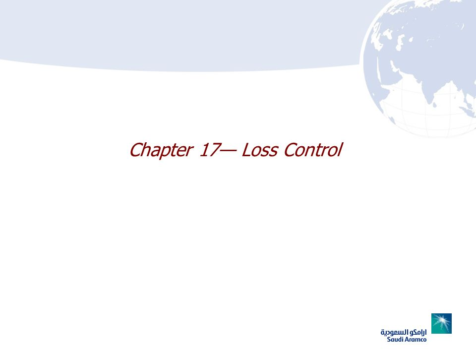 Chapter 17 Loss Control