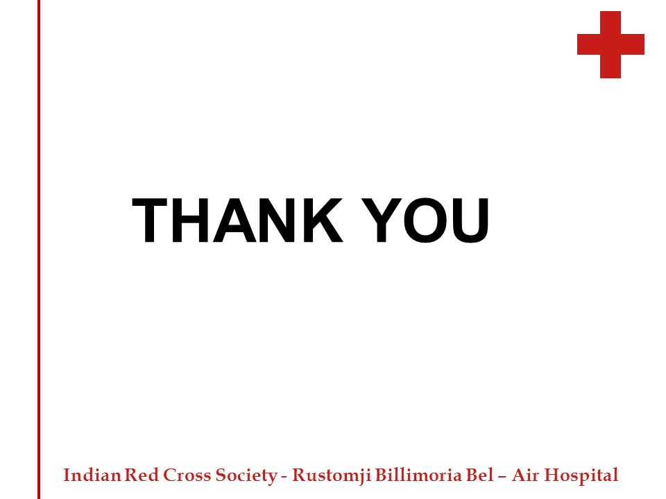 Indian Red Cross Society - Rustomji Billimoria Bel – Air Hospital THANK YOU