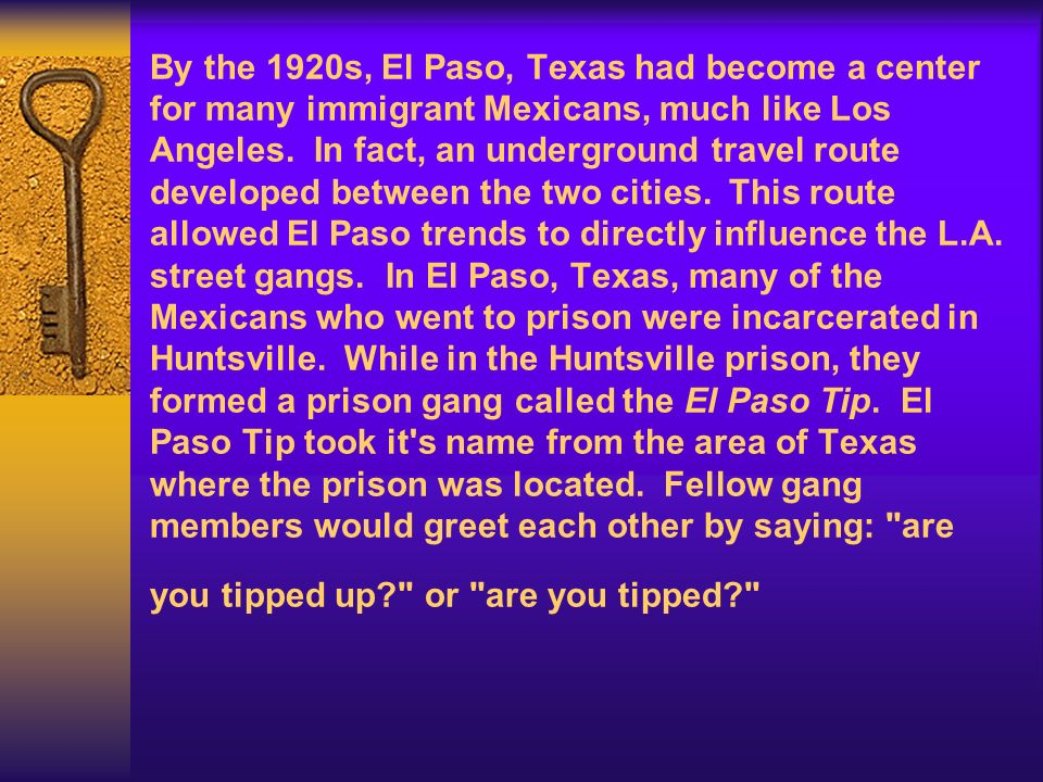 By the 1920s, El Paso, Texas had become a center for many immigrant Mexicans, much like Los Angeles.