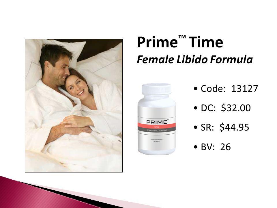 Prime Time Female Libido Formula Code: 13127 DC: $32.00 SR: $44.95 BV: 26