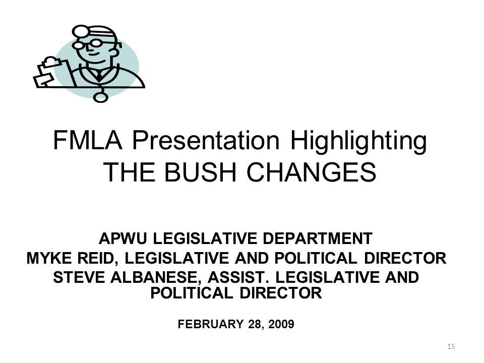 APWU LEGISLATIVE DEPARTMENT MYKE REID, LEGISLATIVE AND POLITICAL DIRECTOR STEVE ALBANESE, ASSIST.