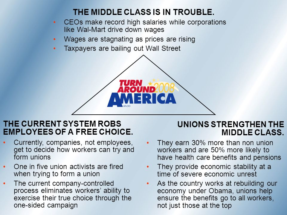 THE MIDDLE CLASS IS IN TROUBLE.
