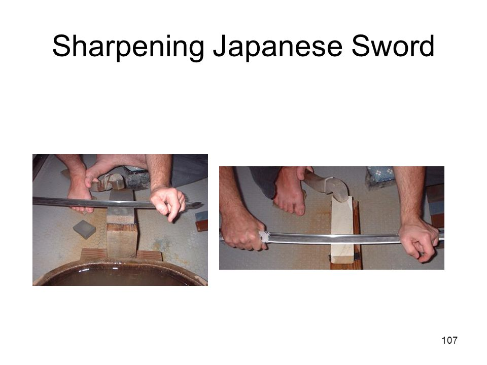 107 Sharpening Japanese Sword