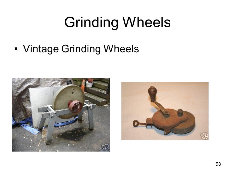 58 Grinding Wheels Vintage Grinding Wheels