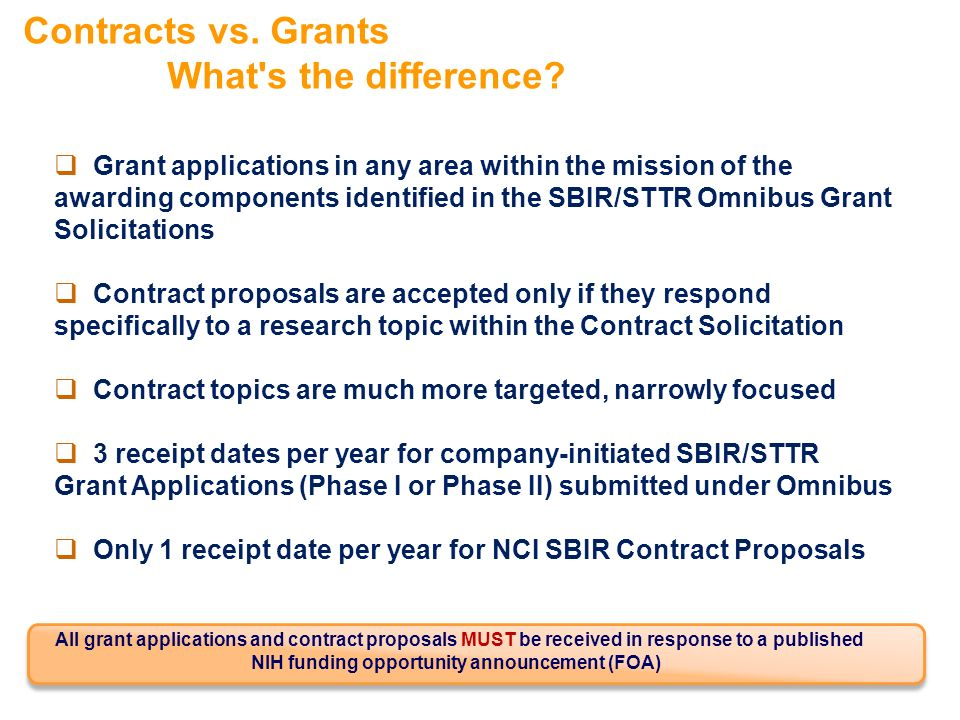 Contracts vs. Grants What s the difference.
