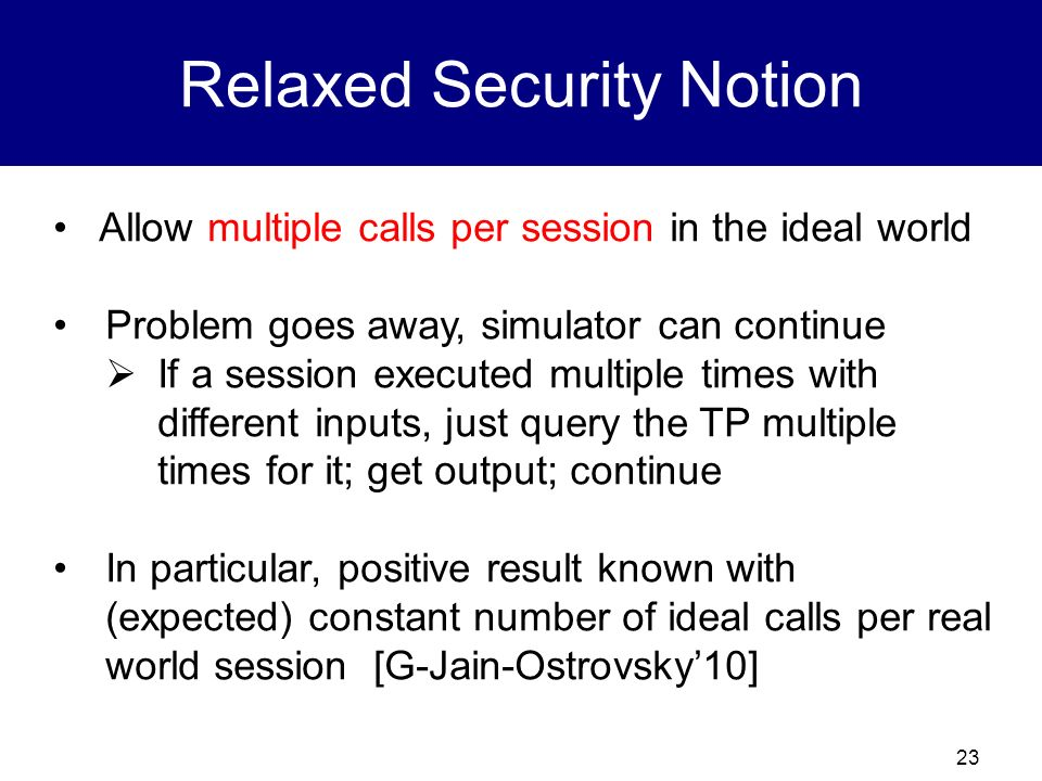 22 The Multiple Call Model