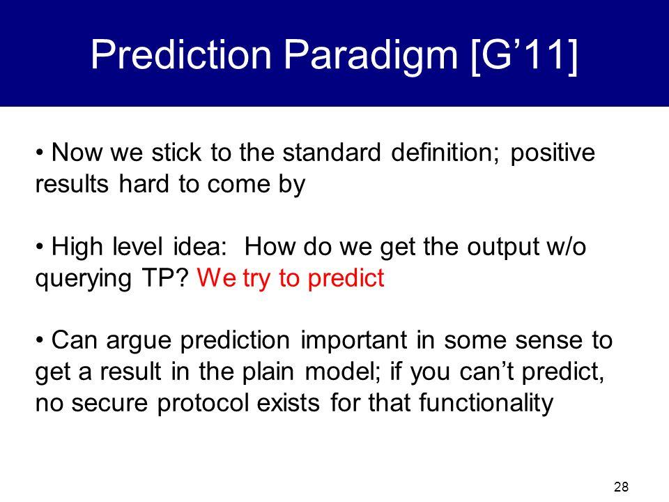 27 The Prediction Paradigm