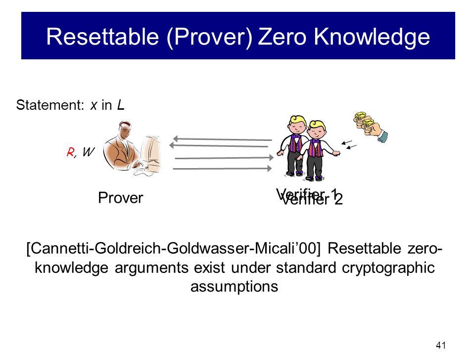 40 Typical Secure Computation Protocol x1x1 x2x2 x3x3 x4x4 f(x 1,x 2,x 3,x 4 )