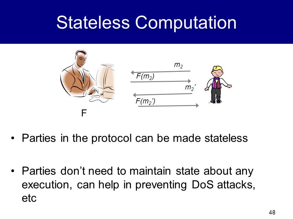 47 Stateful Computation 0x0 0x0a3c0x0a3c387 0x0a3c3870fb 0x0a4c1833a1