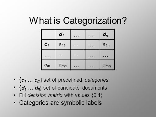 What is Categorization.