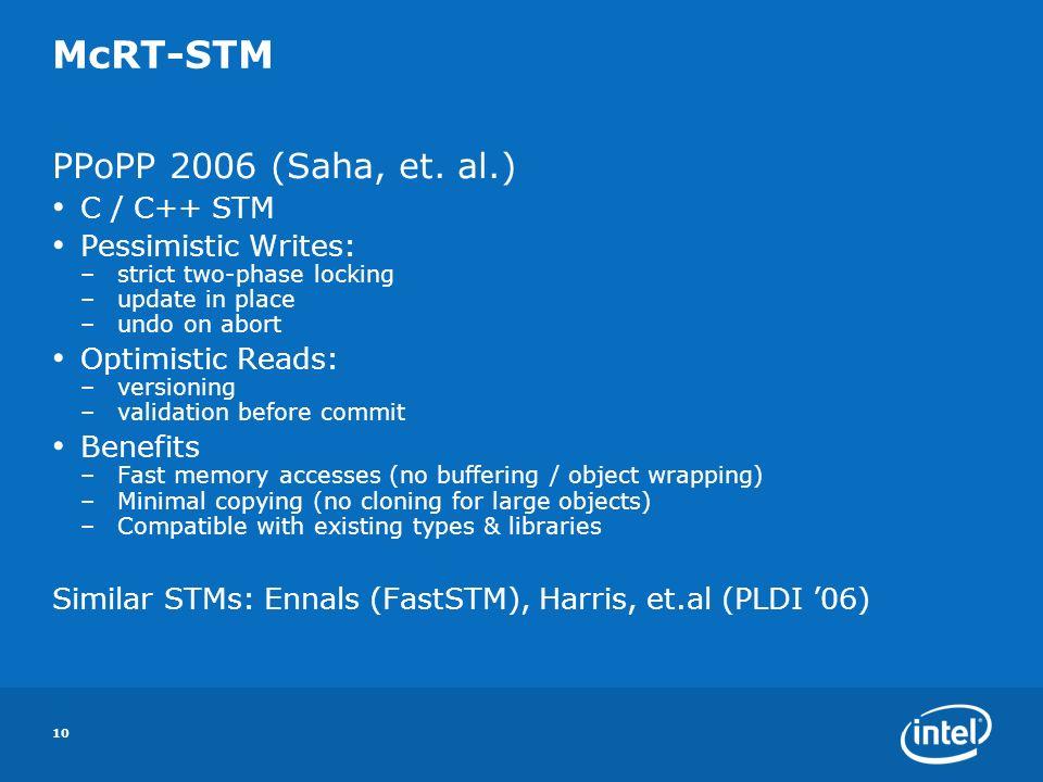 10 McRT-STM PPoPP 2006 (Saha, et.
