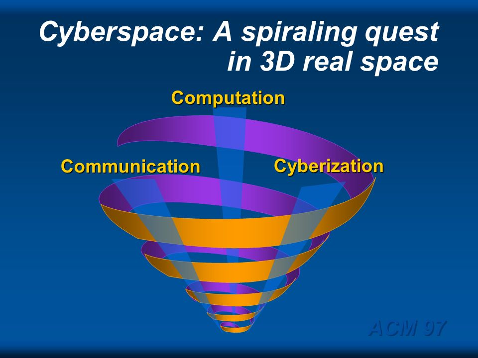 Data Cyberspace: one, two or three networks? Telephony Television ACM 97