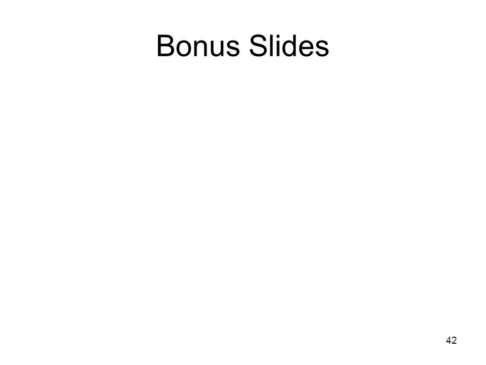 42 Bonus Slides