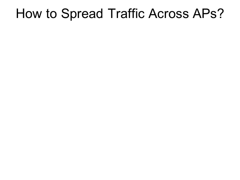 How to Spread Traffic Across APs?