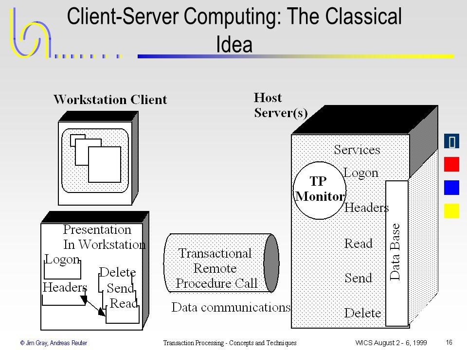 16 Client-Server Computing: The Classical Idea