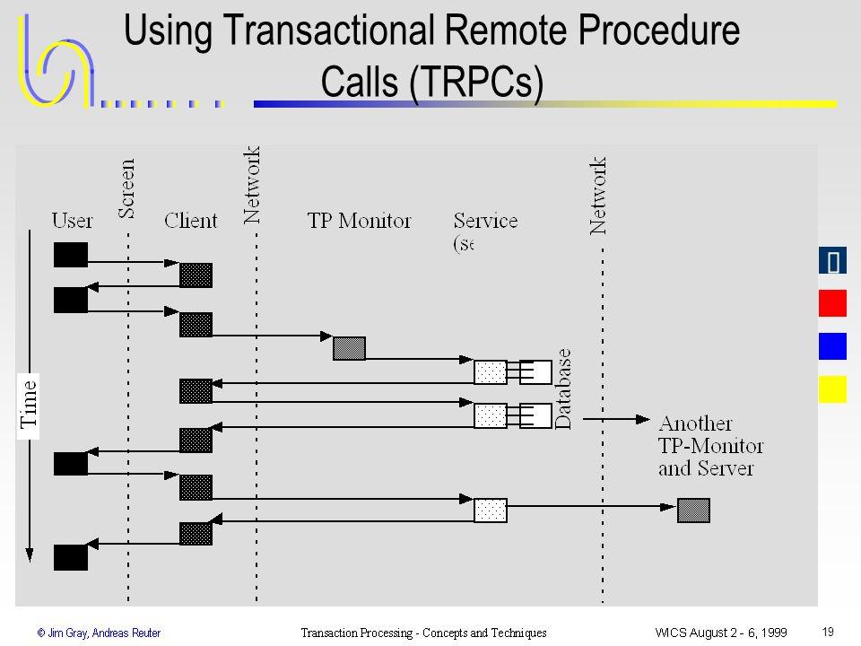 19 Using Transactional Remote Procedure Calls (TRPCs)