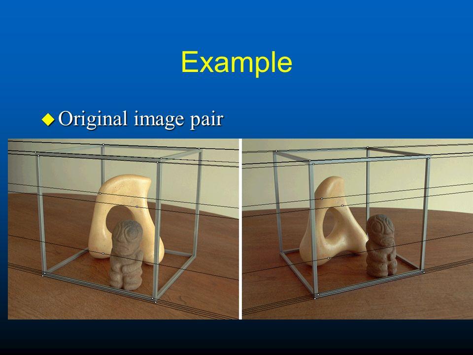 Example u Original image pair