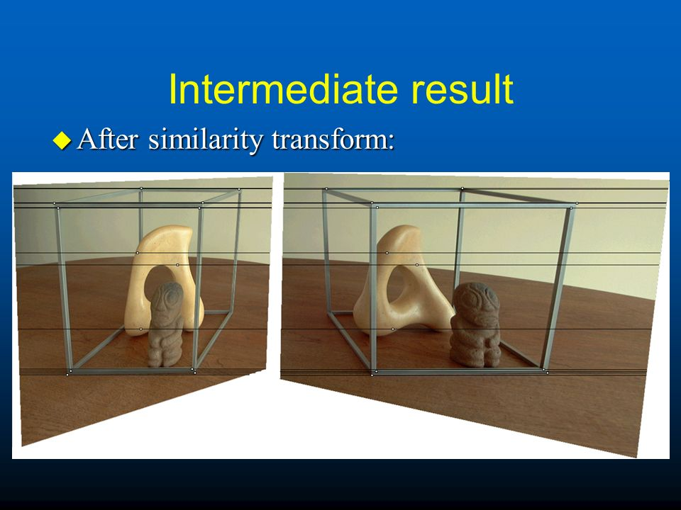 Intermediate result u After similarity transform:
