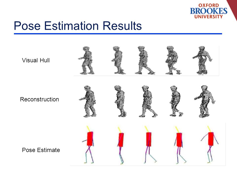 Pose Estimation Results Visual Hull Reconstruction Pose Estimate