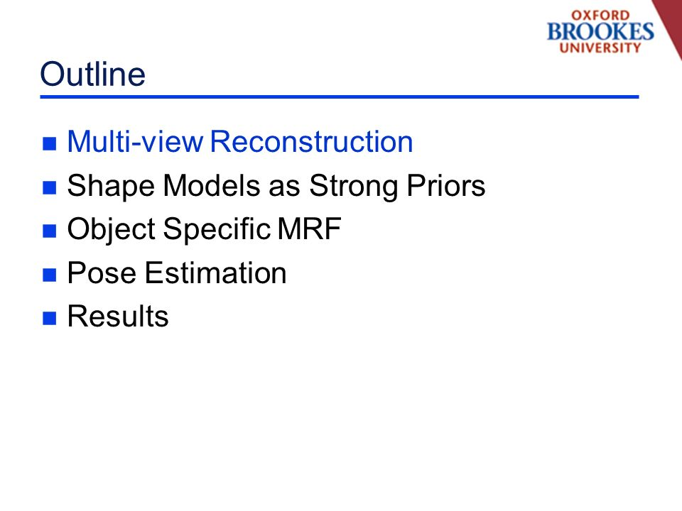 Multiview Reconstruction Need for Shape Priors