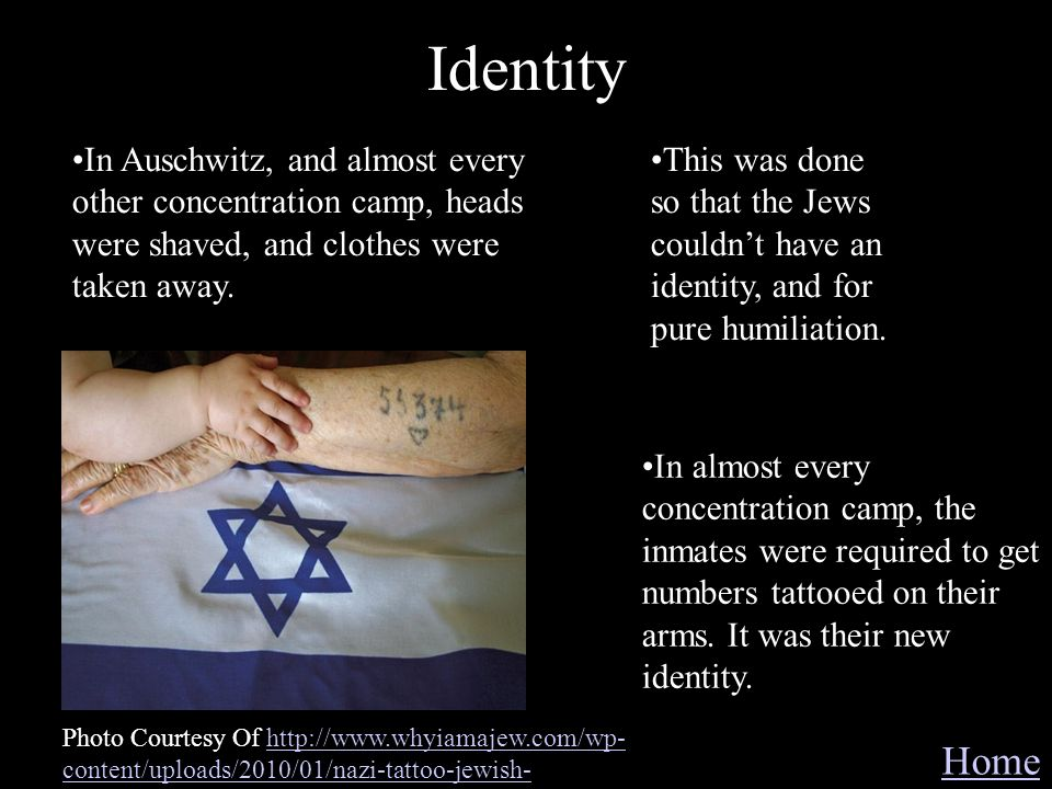 Identity Home Photo Courtesy Of http://www.whyiamajew.com/wp- content/uploads/2010/01/nazi-tattoo-jewish-http://www.whyiamajew.com/wp- content/uploads