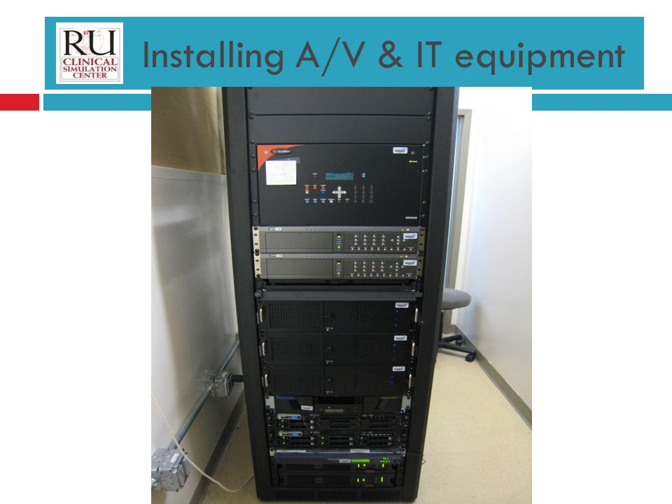 Installing A/V & IT equipment