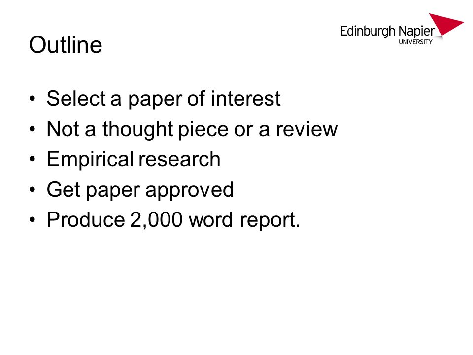 Requirements Demonstration of Understanding – summary of paper – discuss implications of findings.