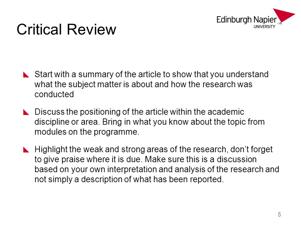 6 Critical Review Based on the previous section make suggestions as to how the study could be improved.