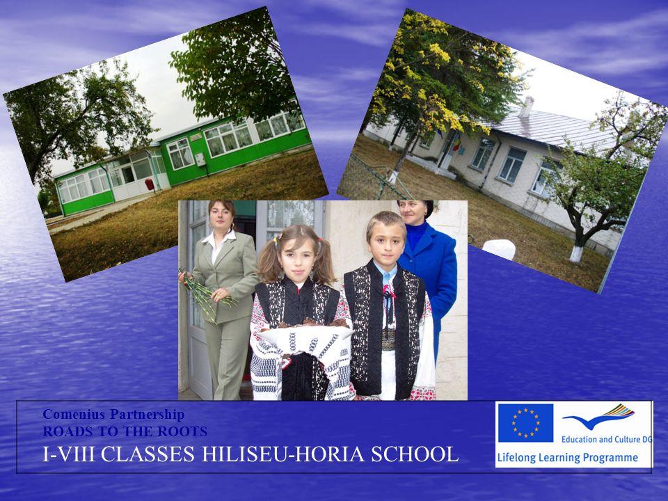 Comenius Partnership ROADS TO THE ROOTS I-VIII CLASSES HILISEU-HORIA SCHOOL