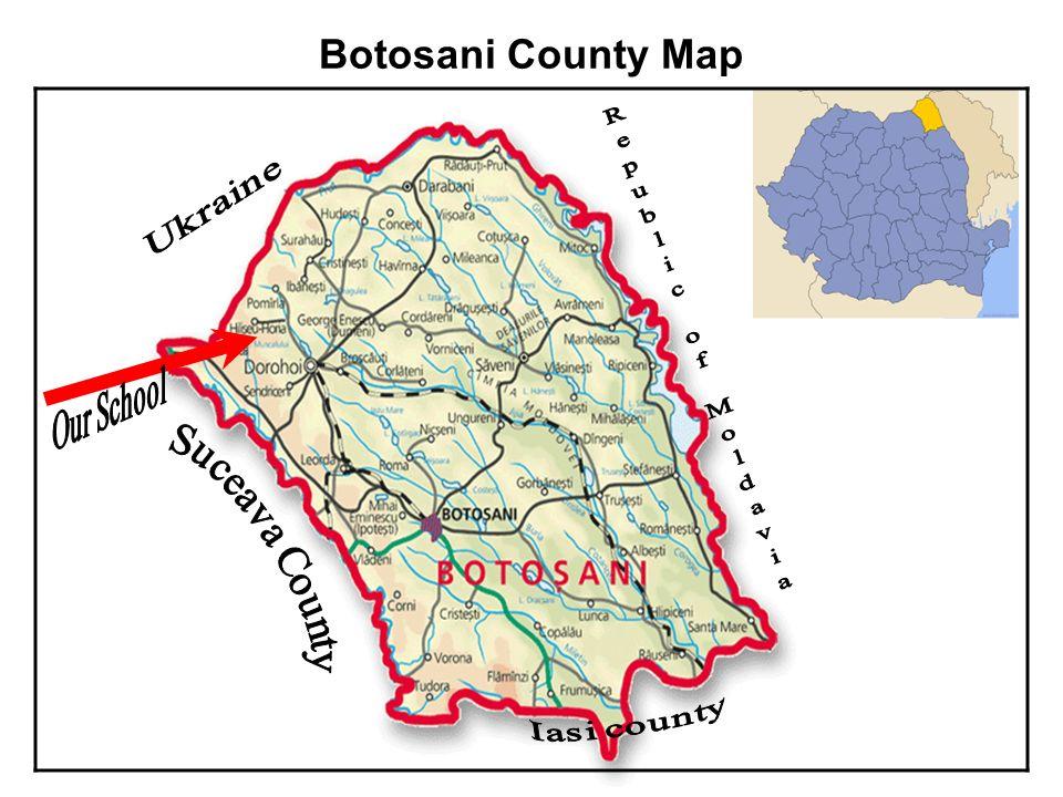 Botosani County Map