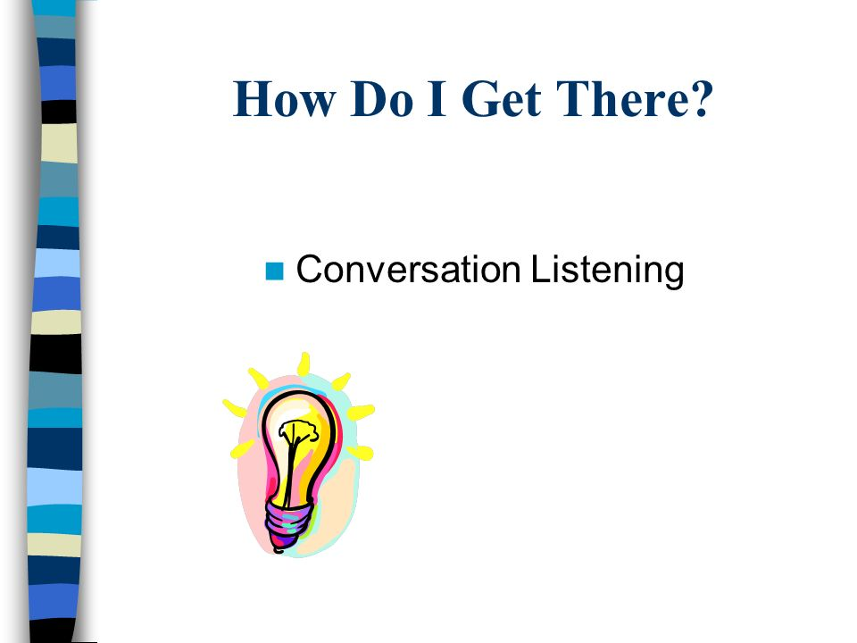 How Do I Get There Conversation Listening