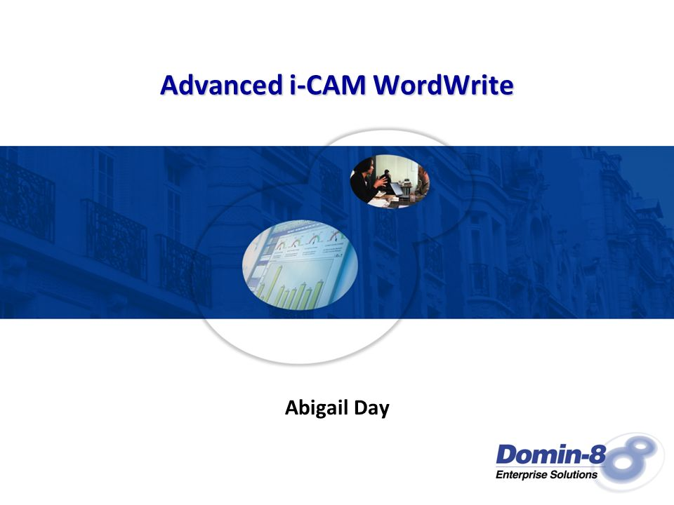 Advanced i-CAM WordWrite Abigail Day