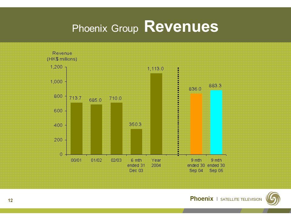 Phoenix I SATELLITE TELEVISION 12 Phoenix Group Revenues Phoenix I SATELLITE TELEVISION