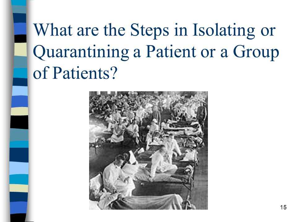 15 What are the Steps in Isolating or Quarantining a Patient or a Group of Patients