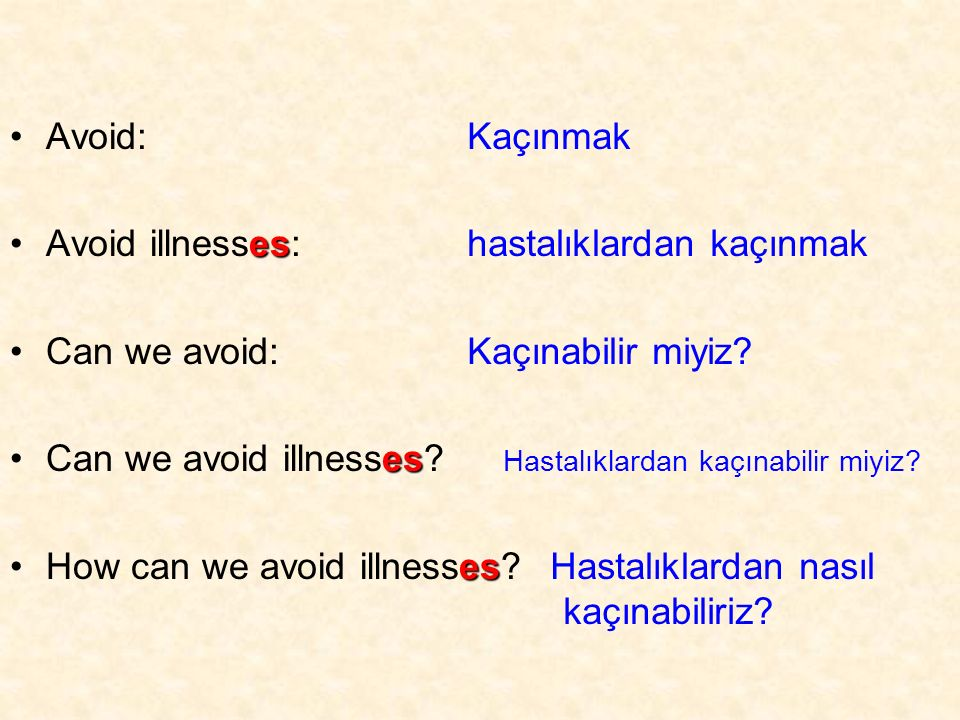Avoid: esAvoid illnesses: Can we avoid: esCan we avoid illnesses.