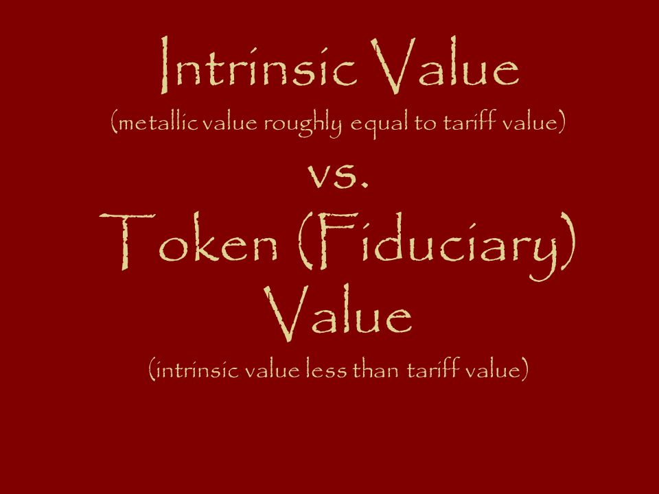 Intrinsic Value (metallic value roughly equal to tariff value) vs.