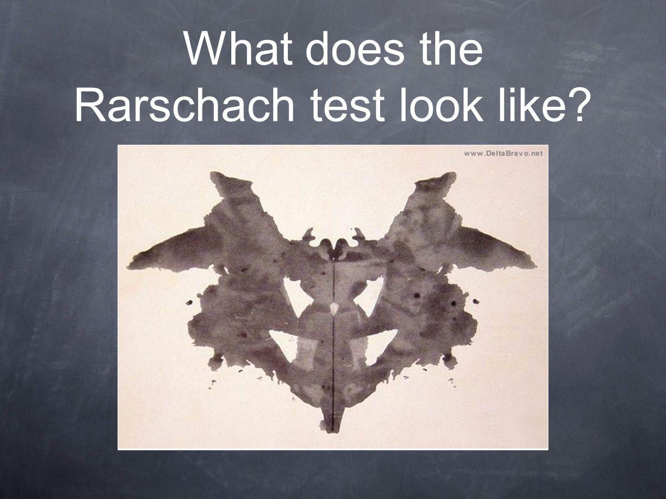 What does the Rarschach test look like