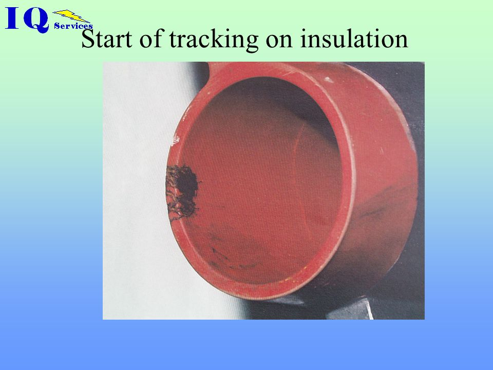 Tracking on epoxy resin busbar
