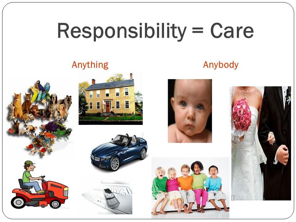 Responsibility = Care AnythingAnybody