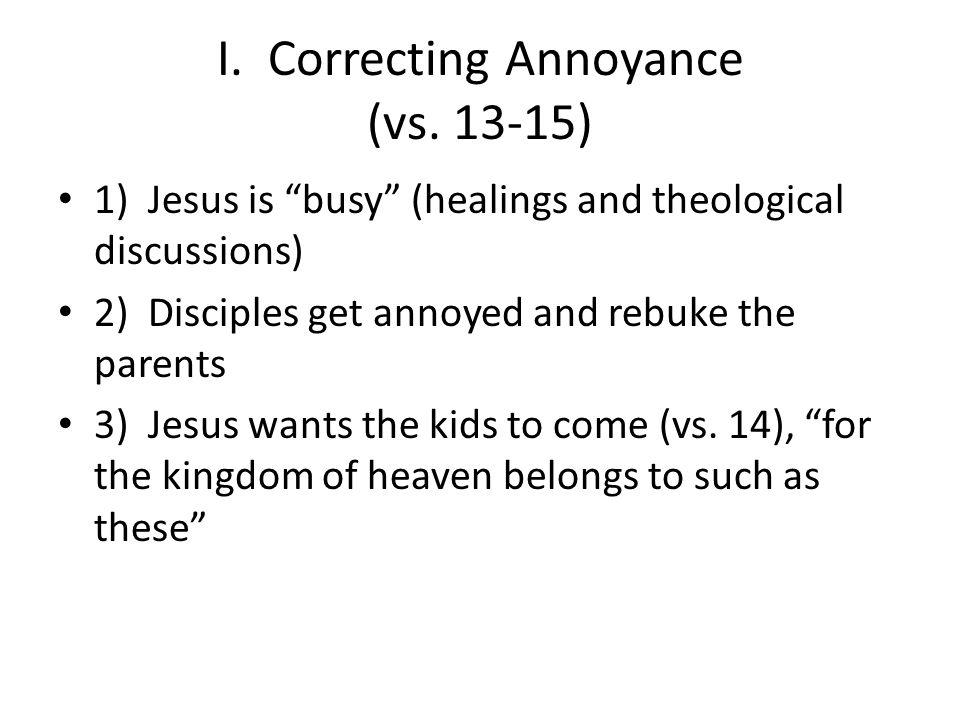 III.Correcting Apprehensions (vs.