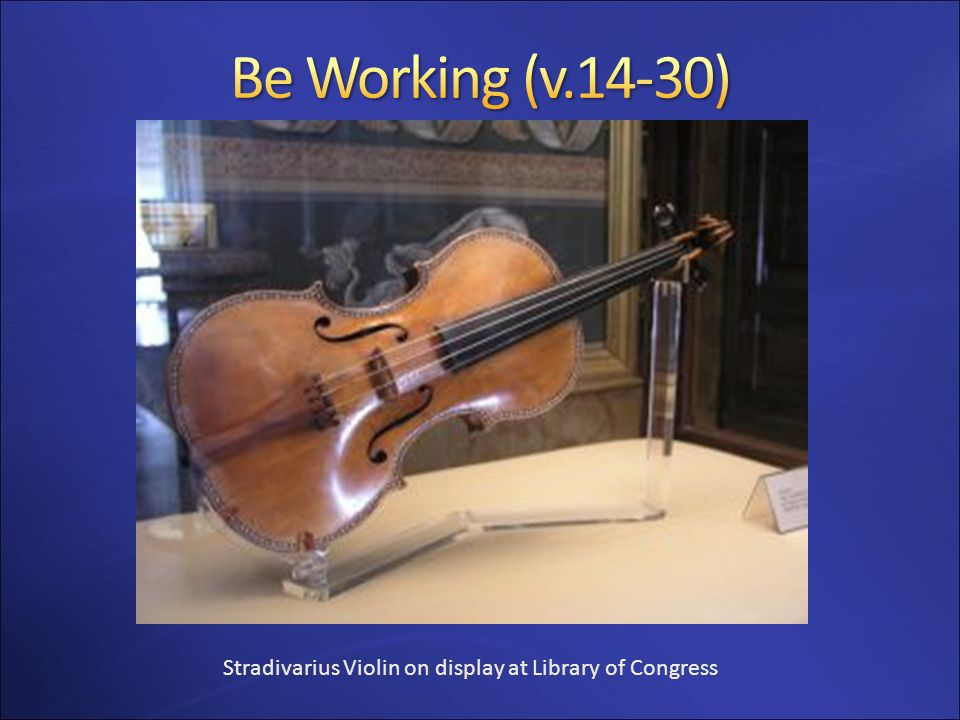 Stradivarius Violin on display at Library of Congress