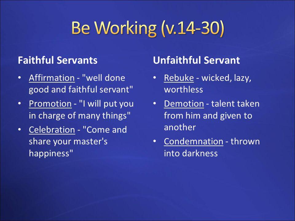 Faithful Servants Affirmation -